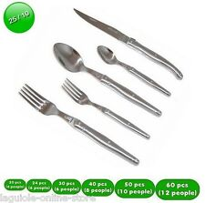 Laguiole Dubost FLATWARE dinner set ALL 25/10 STAINLESS STEEL - 4 to 12 people
