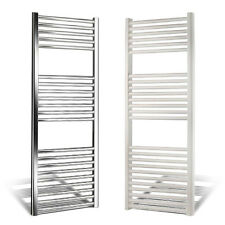 HEATED TOWEL RACK TOWEL WARMERS WHITE/CHROME STRAIGHT/CURVED ALL MEASURES