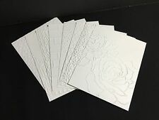 Stampin' Up card fronts (4) embossed with Stampin' Up designs