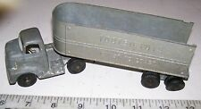 1950s DIE-CAST TOOTSIETOY I.H. SEMI-TRACTOR  & COAST TO COAST TRAILER TRUCK TOY