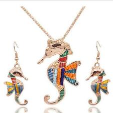 Bohemia Vintage Hot Resin Women Wings Earring Necklace Jewelry Sets Hippocampus