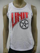 UNIT RIDERS -MOTORCYCLE MX BMX MTB- MENS JUGULAR SINGLET WHITE $49.99