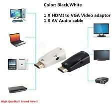 HDMI Male to VGA Female Video Adapter Cable Converter+AV Audio Cable For PC SG