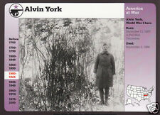 SERGEANT ALVIN YORK WWI Hero 1997 GROLIER STORY OF AMERICA CARD