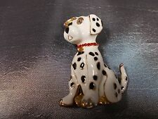 Beautiful Dalmation Dog Brooch Costume Jewellery Collectable