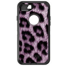 CUSTOM OtterBox Defender for iPhone 6 6S 7 PLUS Purple Black Leopard Fur Skin