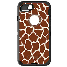 CUSTOM OtterBox Defender for iPhone 6 6S 7 PLUS Brown Tan Beige Giraffe Skin