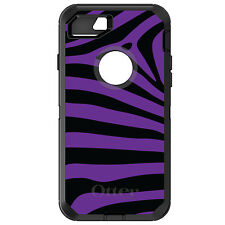 CUSTOM OtterBox Defender for iPhone 6 6S 7 PLUS Black Purple Zebra Skin Stripes