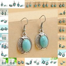 Fashion Elegant Women's Charms Mixed Style Silver Turquoise Earring Jewelry New