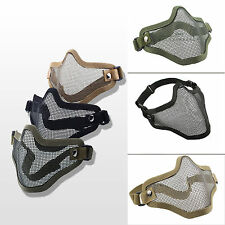 Tactical Airsoft Steel Mesh Paintball Protect Half Face Mask Hunting Game Sports