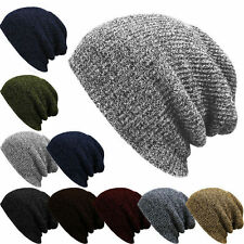 Men Knit Baggy Beanie Unisex Winter Hat Ski Slouchy Chic Women Knitted Cap Skull