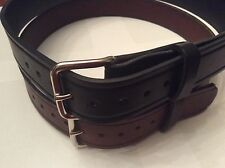 """Men's Leather Belt- Amish Made     1 1/2 """" Sizes 30 to 50-Handcrafted in USA"""