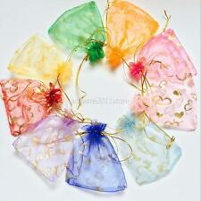 100pcs Organza Wedding/Party Favor Gift Bags Jewelry Package Pouch 10x12cm New