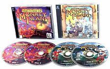 THE CURSE OF MONKEY ISLAND + & ESCAPE FROM MONKEY ISLAND PC CD ROM ADVENTURE VGC
