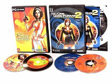 No One Lives Forever 1 & 2: A Spy in H.A.R.M.'s Way PC CD ROM Stealth Shooter