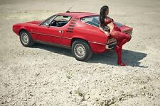 60 different photos sexy GIRL on ALFA ROMEO CAR FIAT printed on glossy paper