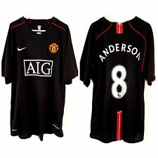 Manchester United Anderson Away Shirt 2007. XL. Nike. Black Adults Man Utd Top.