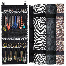 The Ultimate Jewelry Scroll-Hanging Storage Organizer-Holds 150 Pieces-Rolls Up