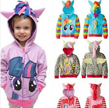 Cute GIRLS BOY MY LITTLE PONY WING HOODIES ZIPPER COAT CASUAL OUTWEAR Zip Jacket