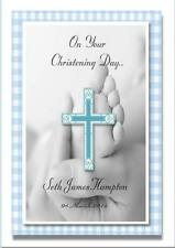 Personalised Christening Card Boy or Girl A5 size
