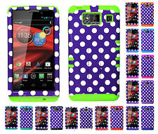 KoolKase Hybrid Cover Case for Motorola Droid Razr Maxx HD XT926m DOTS PURPLE