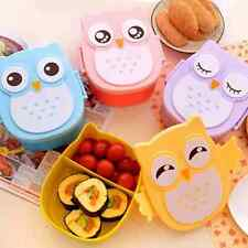 1050ml Cartoon Owl Lunch Box Food Fruit Container Portable Bento Box Food-safe