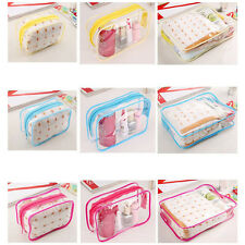 PVC Clear Plastic Pouch Travel Bathing Toiletry Zipper Cosmetic Bag EF