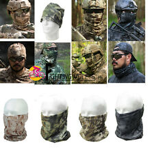 Tactical Camouflage Quick-Dry Scarf Hood Half Face Mask Military Hiking Hunting