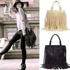 Celebrity Tassel Fringe Shoulder Messenger Handbag Hobo Women Cross Body Bag New