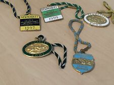 Lot of 5 x Newmarket Race Club Enamel Members Badges - 1997 - 2005