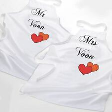 Mr and Mrs Personalised Aprons