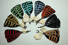 Vintage Feather Millinery Lacquered Trim 3211 France-hair accessory part