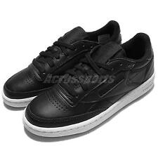 Reebok Club C 85 Leather Black White Womens Casual Shoes Vintage Sneakers AR2018