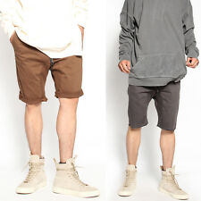 TheMogan Men's Drawstring Drop Crotch Shorts Harem Style Jogger Short Pants