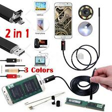 6 LED Android Endoscope Waterproof Inspection Camera Micro USB Video Camera