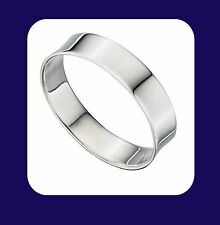 Silver Wedding Ring 5mm Flat Wedding Band Sterling Silver Band