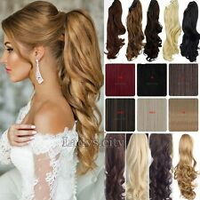 Luxury THICK Clip In Hair Extensions Drawstring Ponytail Ponytail As Human Tre