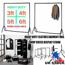 Portable Heavy Duty Rail 3 4 5 6ft Clothes Garment Dress Hanging Display Stand
