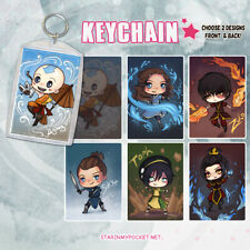 Avatar the Last Airbender Anime Keychain Double-Sided Chibi Art
