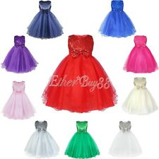 Flower Girl Dress Wedding Birthday Party Bridesmaid Formal Tutu Princess Dresses