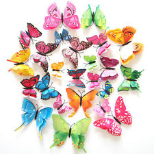 12pcs 3D Butterfly removable Decal Art Wall Stickers Room Decorations Home Decor