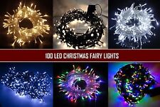 100 LED Fairy String Lights Christmas Indoor/Outdoor Lighting Xmas Garden Party