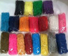 US SELLER Many Colors RUBBER BANDS REFILL for LOOM Bracelets Choose Quantity