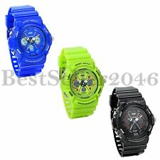 Candy Color Large Dial Multi-function Boy Girl Teen LED Digital Analog Watch
