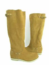 NEW Reef Hight Desert Brown Suede Slip On Knee High Boots RTL $145