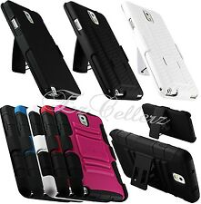 for SAMSUNG GALAXY NOTE III 3 RUGGED HYBRID CASE COVER SKIN HOLSTER KICKSTAND