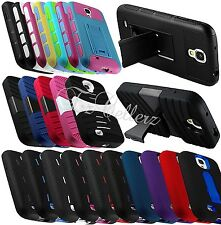 for SAMSUNG GALAXY S4 SIV HYBRID TPU IMPACT RESISTANT COVER CASE COVER KICKSTAND