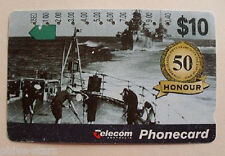RAN NAVY WWII AUSTRALIAN IMPORT VINTAGE PHONECARD ANZAC