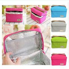 Portable Lunch Box Carry Tote Cooler Bag Bento Picnic Pouch Container 4 Colors