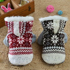 Dogs Cozy Snowflake Style Costume Two Feet Fashion Pets Jacket Teddy Hoodie EO